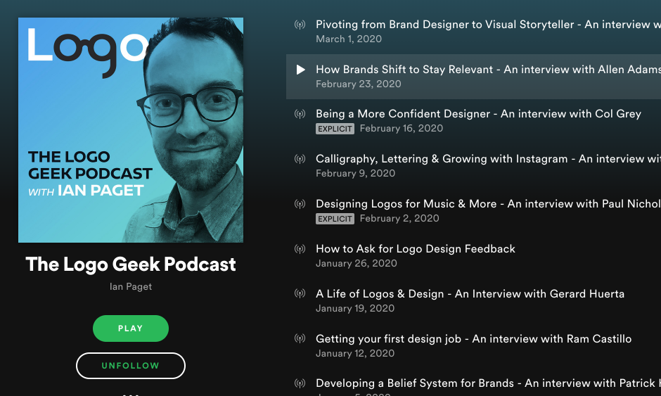 The Logo Geek Podcst with Ian Paget