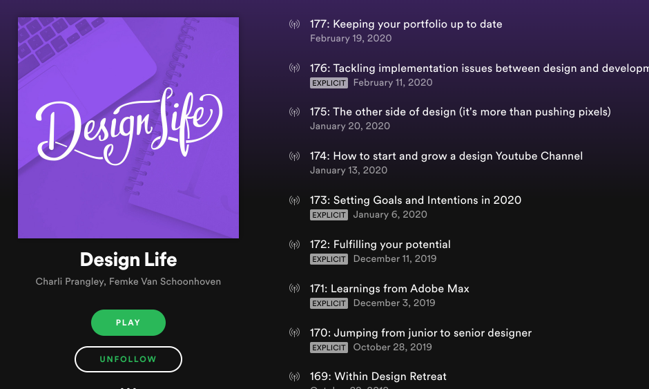 DesignLife podcast by designers Charli Prangley and Femke Van Schoonhover